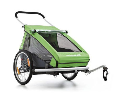 bikever bike hiring rental accessory transport kids trailer croozer duo