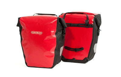bikever bike hiring rental accessory transport pannier back carrier ortlieb red backroller city
