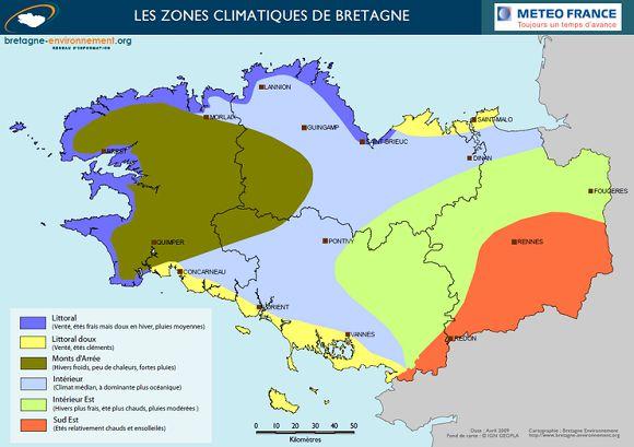 bikever velo location regions bretagne geographie climat carte zones