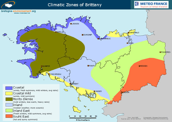 bikever bike hiring rental regions brittany geography climate map zones