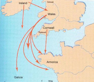 bikever bike hiring rental regions brittany history breton exodus armorica