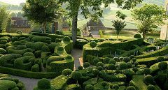 bikever bike hiring rental regions south west places cities unusual landscape garden marqueyssac dordogne