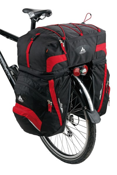 bikever bike hiring rental accessory transport luggages pannier carrier vaude karakorum red