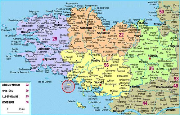 bikever location regions bretagne geographie carte