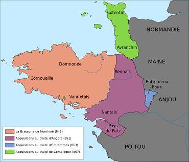bikever velo location regions bretagne histoire royaume marche carte